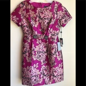 NWT Adrianna Papell embroidered rhinestone dress